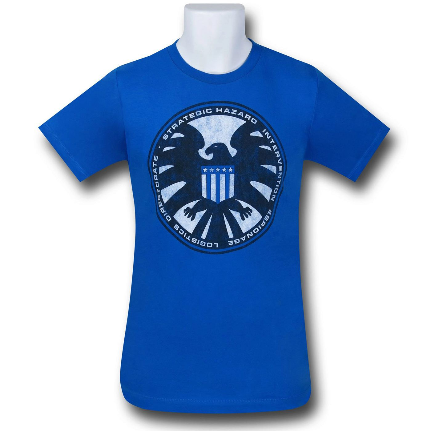 S.H.I.E.L.D. Distressed Symbol 30 Single T-Shirt