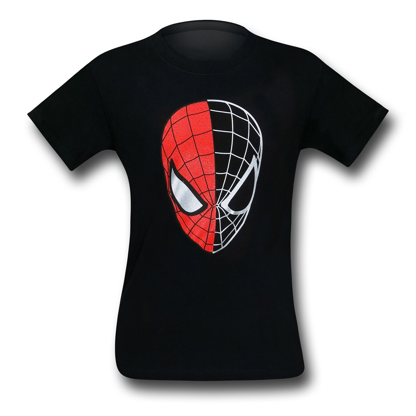 Spiderman Half-Gone Mask T-Shirt