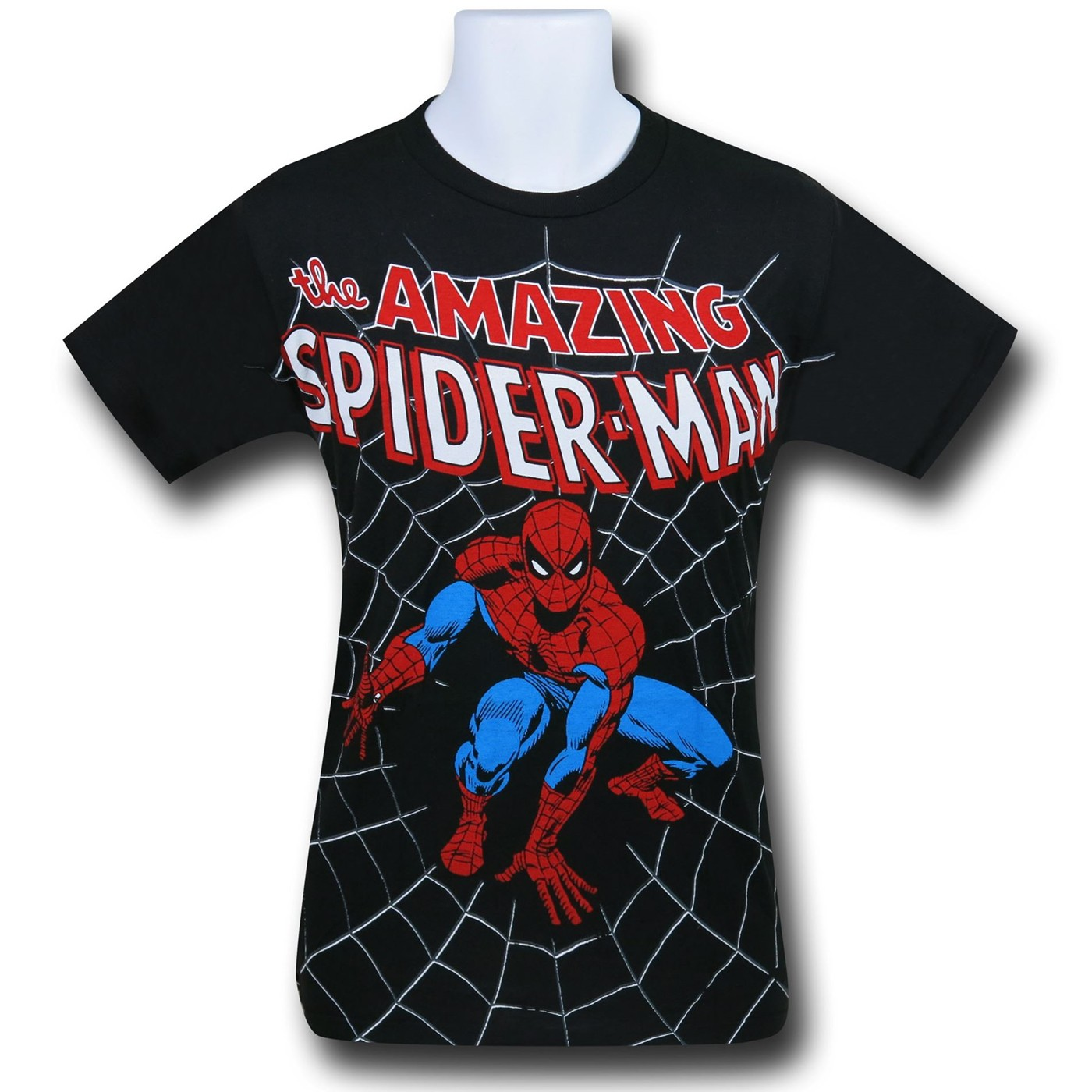 Spider-Man Crouch Big Print (30 Single) T-Shirt