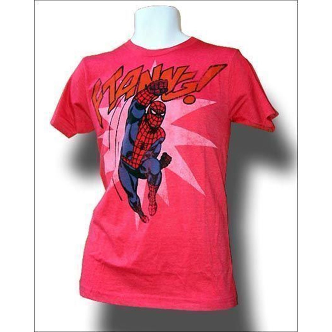 Spiderman Ftanng! Red Distressed T-Shirt