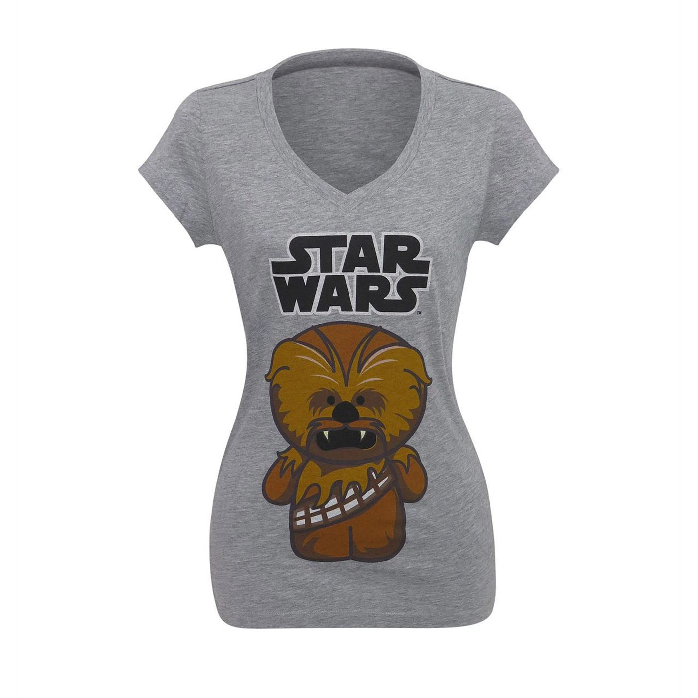 Star Wars Cute Chewbacca Women's V-Neck T-Shirt