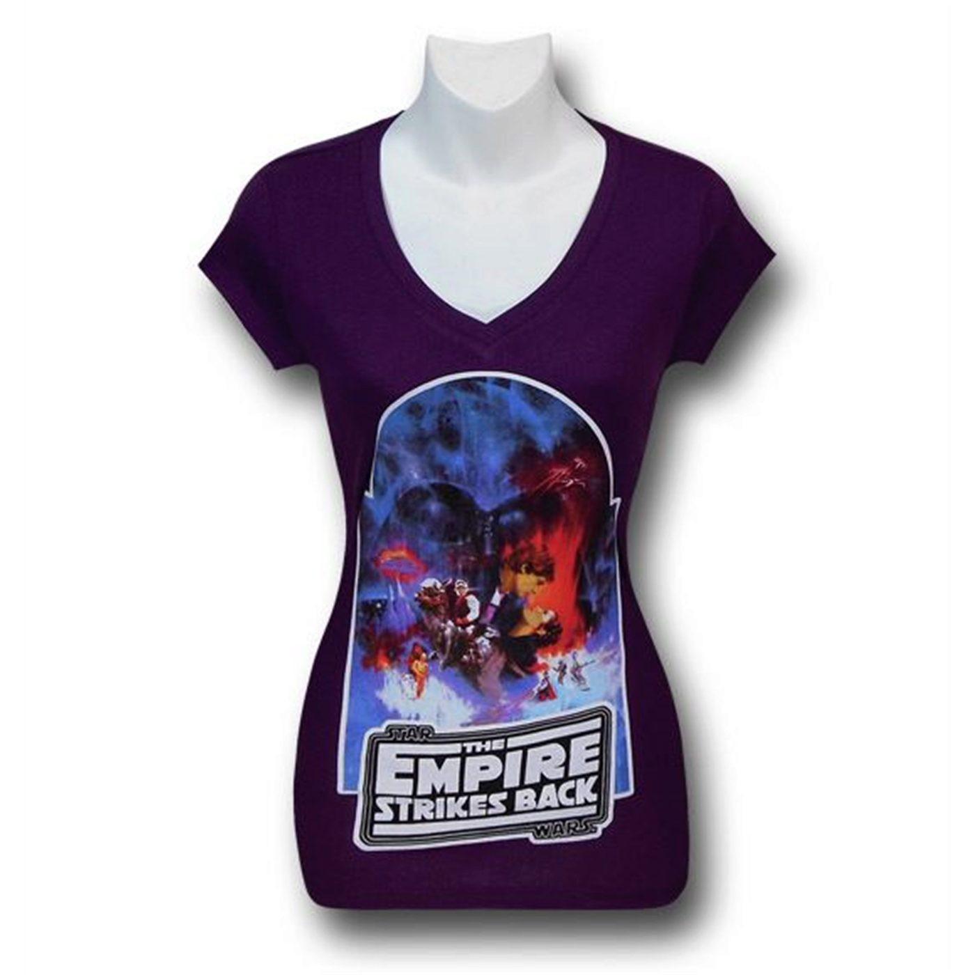 Star Wars Empire Strikes Back Women's V-Neck T-Shirt