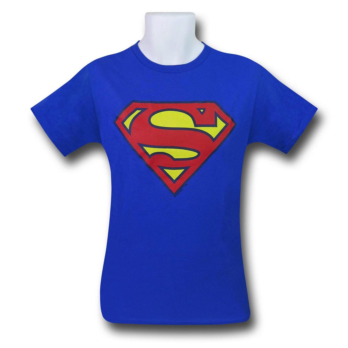 Superman Kids Royal Blue Symbol T-Shirt