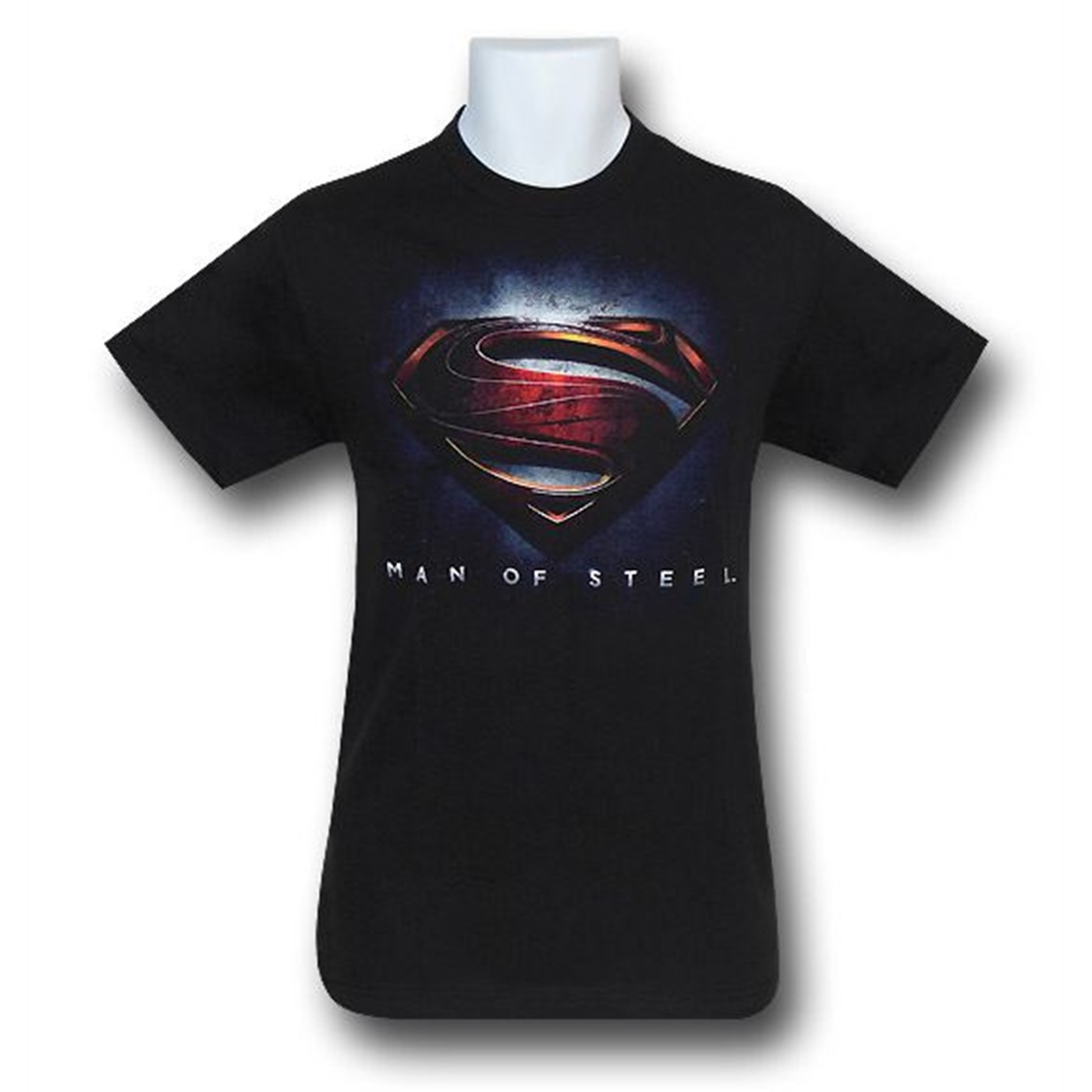 Superman Man of Steel Movie Logo Black T-Shirt