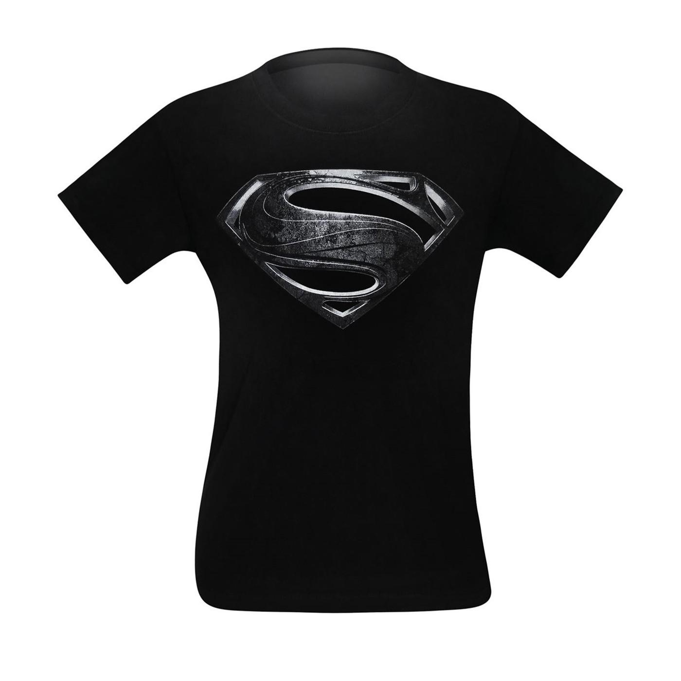 Superman Silver Movie Symbol Men's T-Shirt