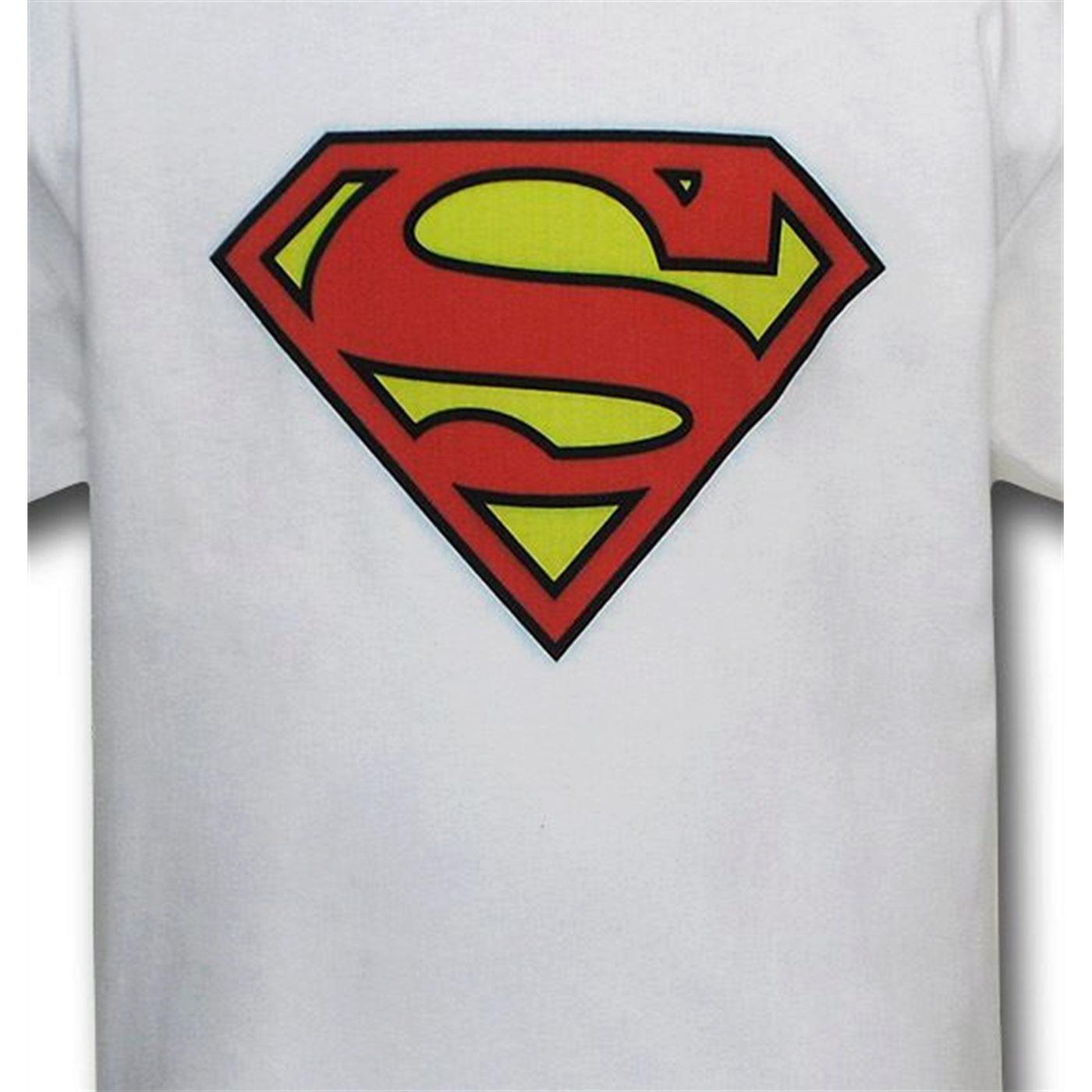 Superman Symbol White Kids T-Shirt