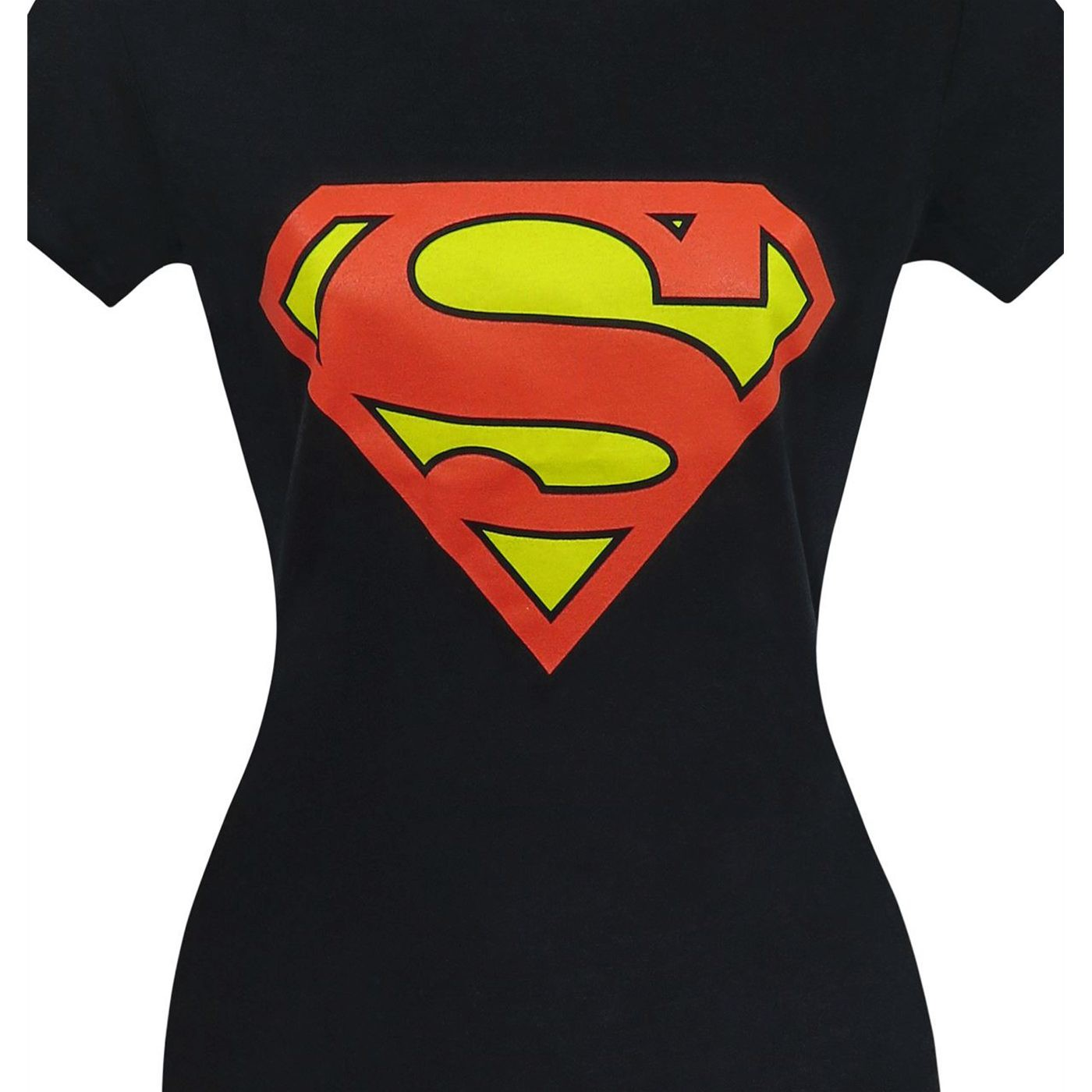 Superman Symbol Women's Black T-Shirt