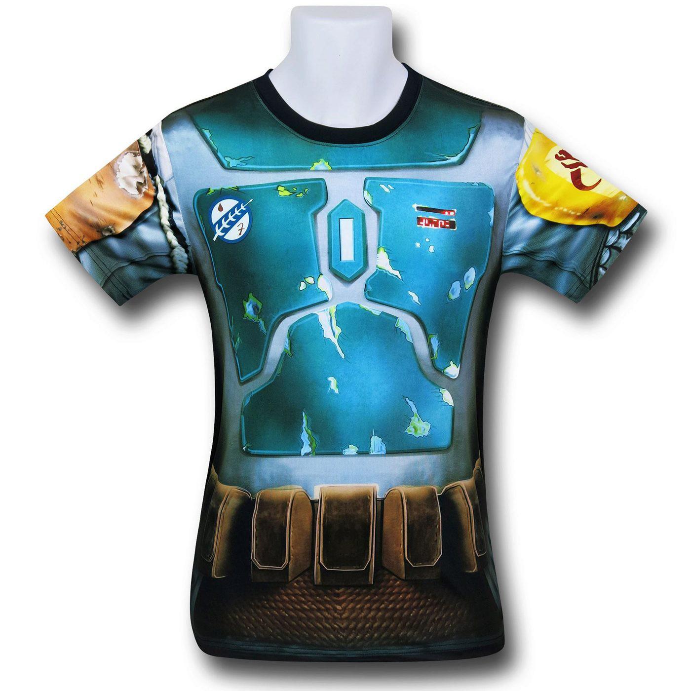 Boba Fett Sublimated Costume Fitness T-Shirt
