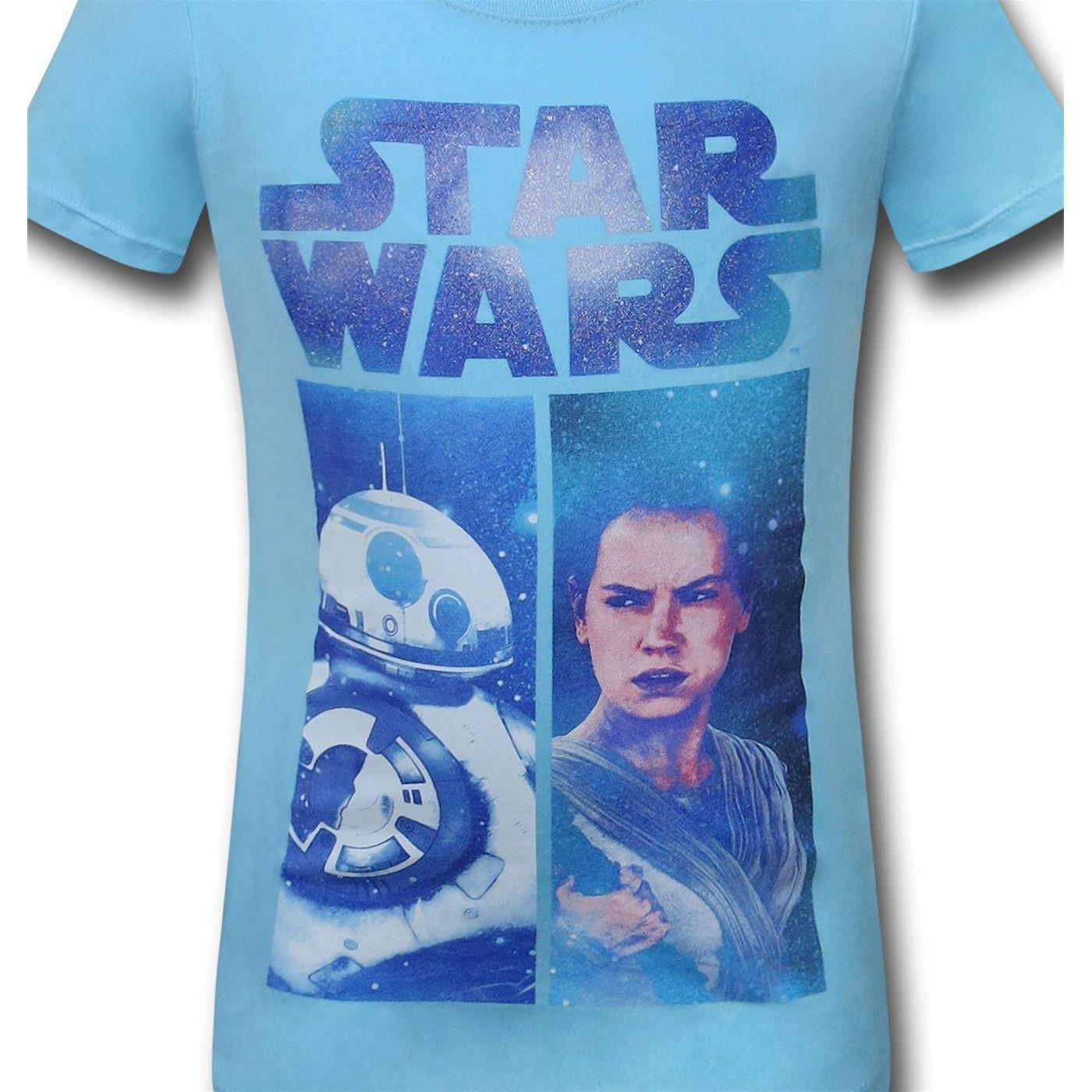Star Wars Force Awakens Rey BB8 Girls T-Shirt