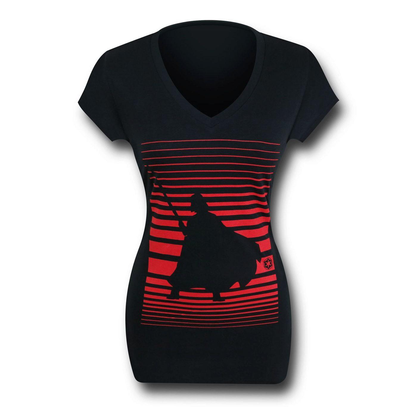 Star Wars Vader Vision Women's V-Neck T-Shirt