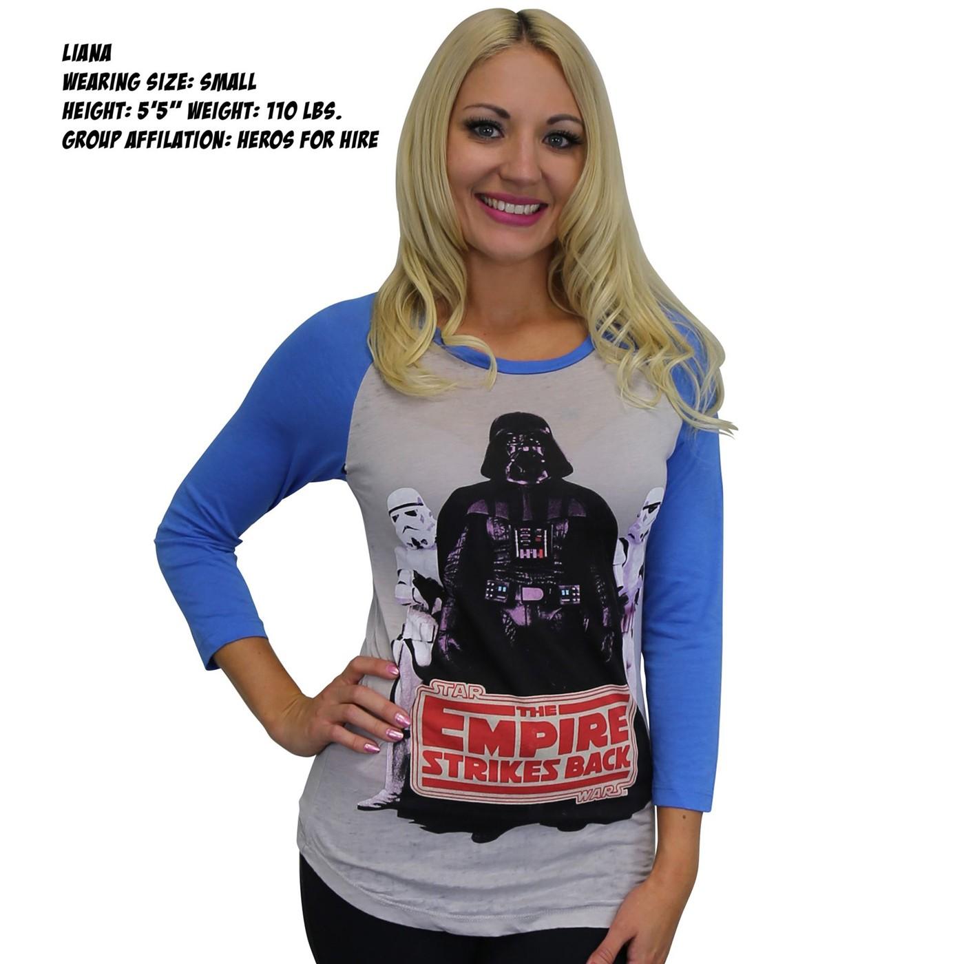 Star Wars Vader Troopers Women's Baseball T-Shirt