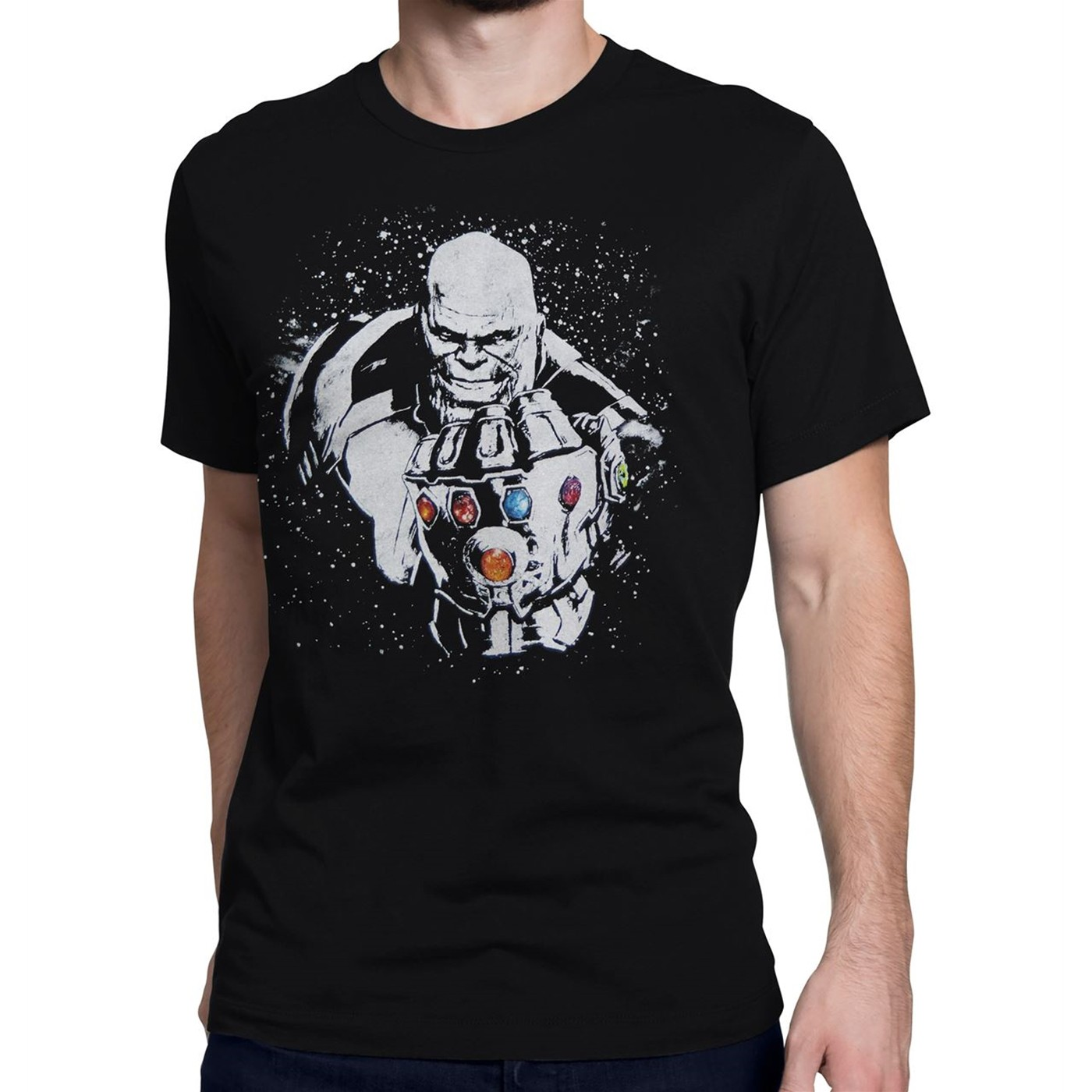 Avengers Infinity War Thanos Space Dye Men's T-Shirt