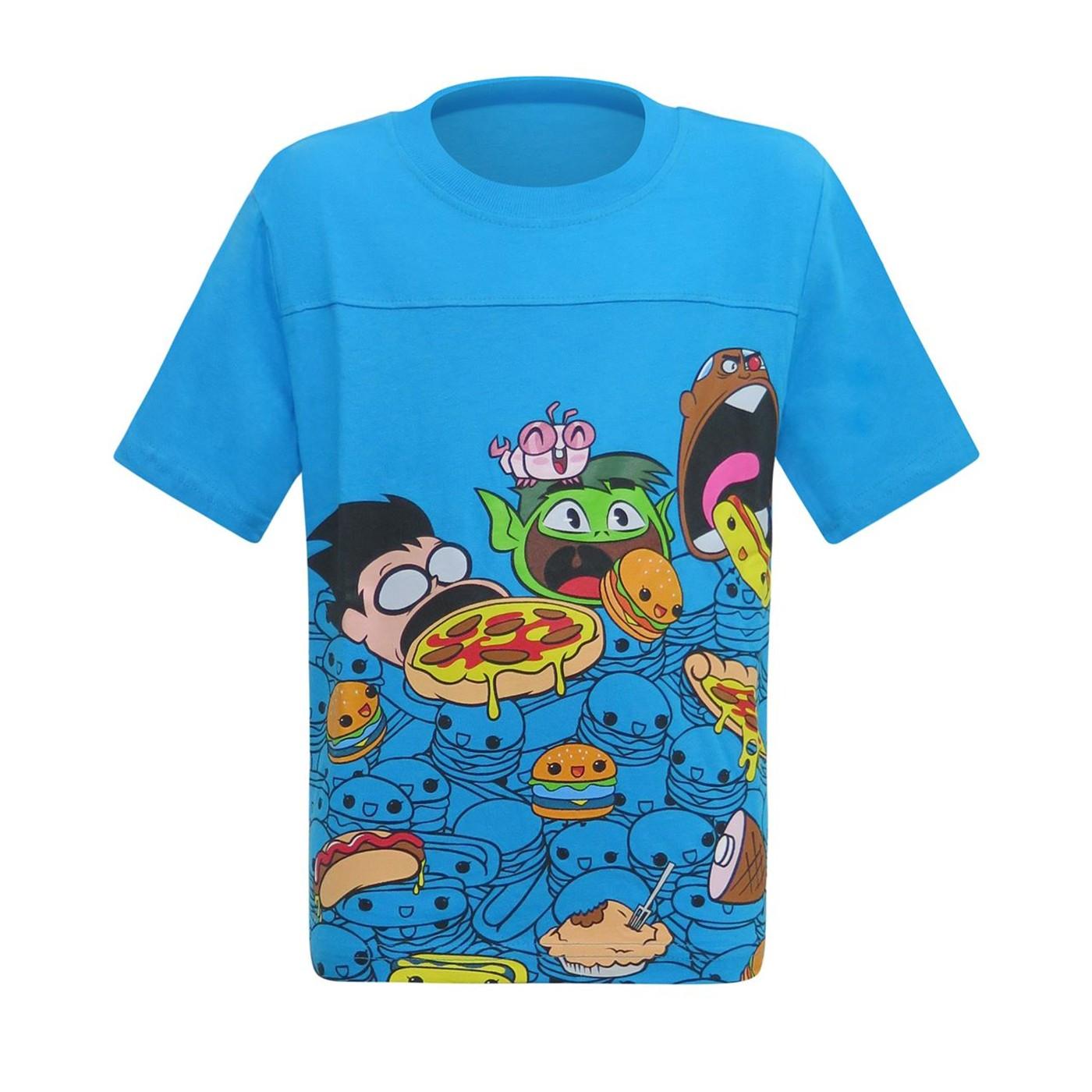 Teen Titans Eating Academy Kids T-Shirt