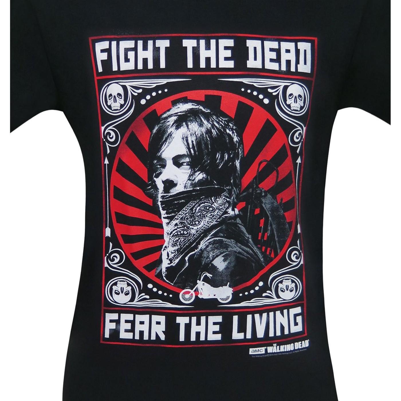 Walking Dead Daryl Dixon Fight The Dead Men's T-Shirt
