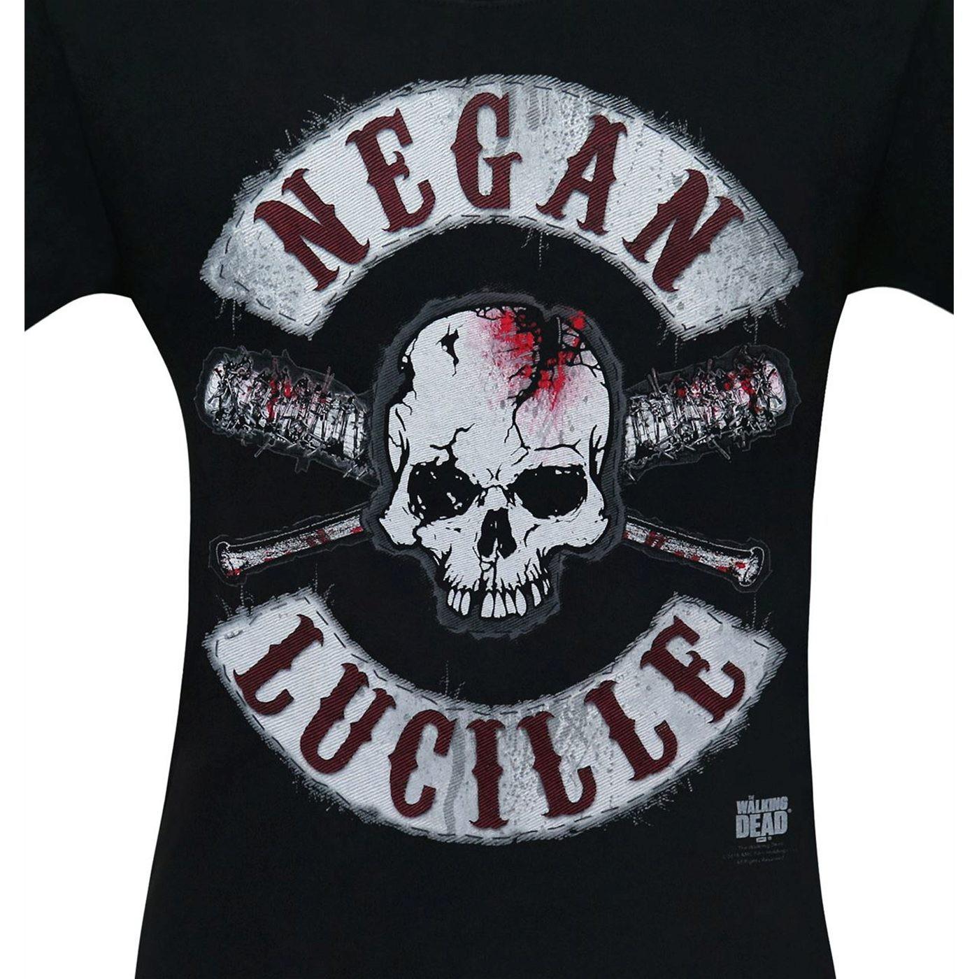 Walking Dead Negan Lucille Skull & Bats Men's T-Shirt
