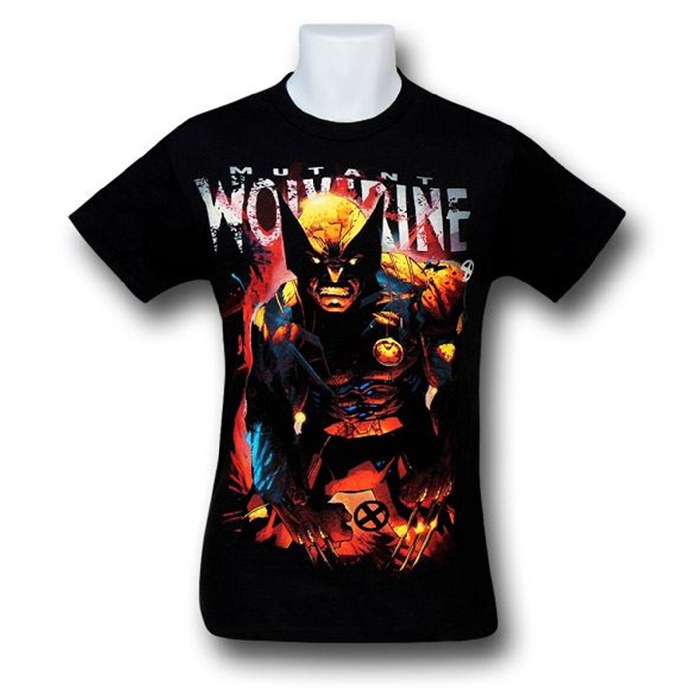 Wolverine Angry Mutation on Black T-Shirt