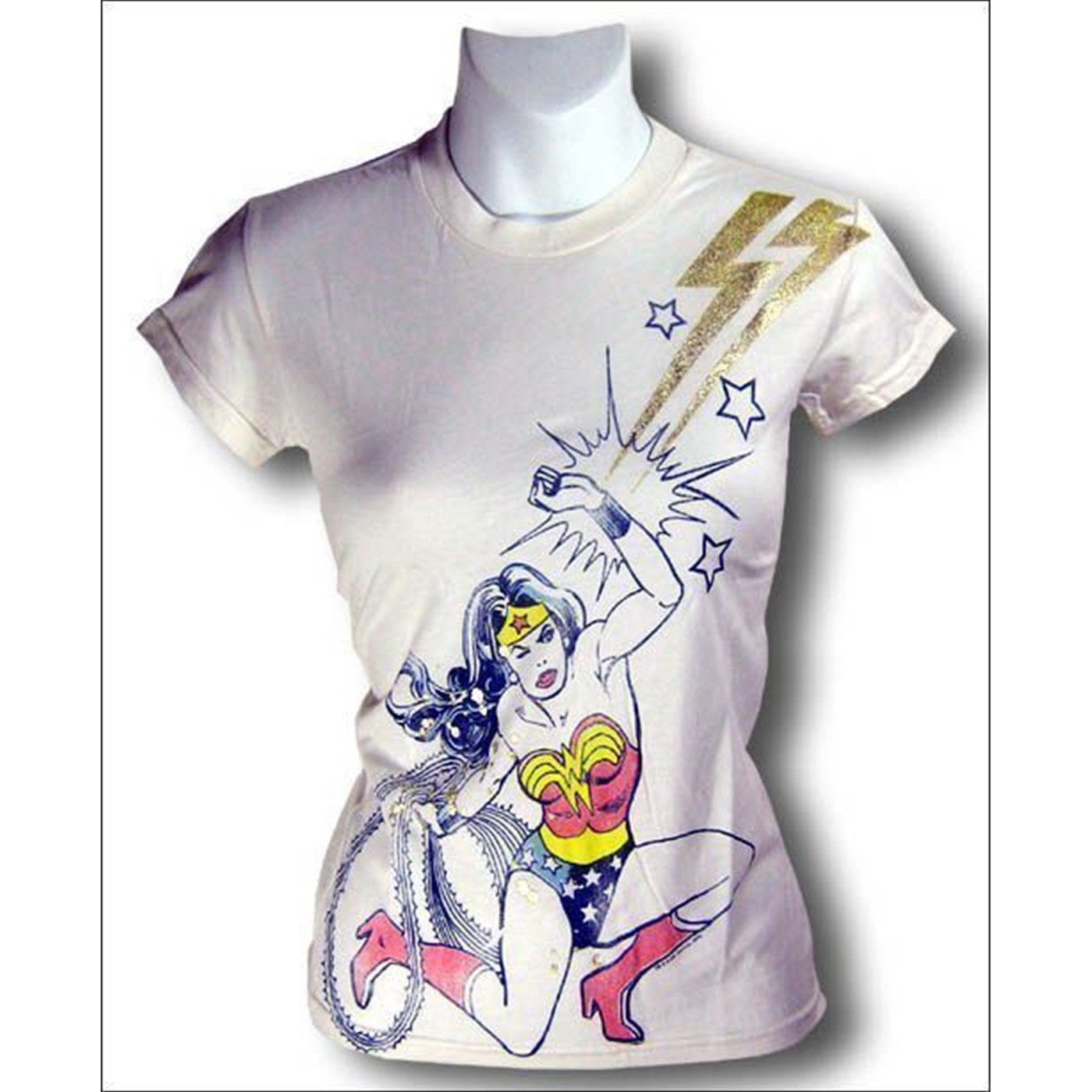 Wonder Woman Foil Youth Junkfood T-Shirt