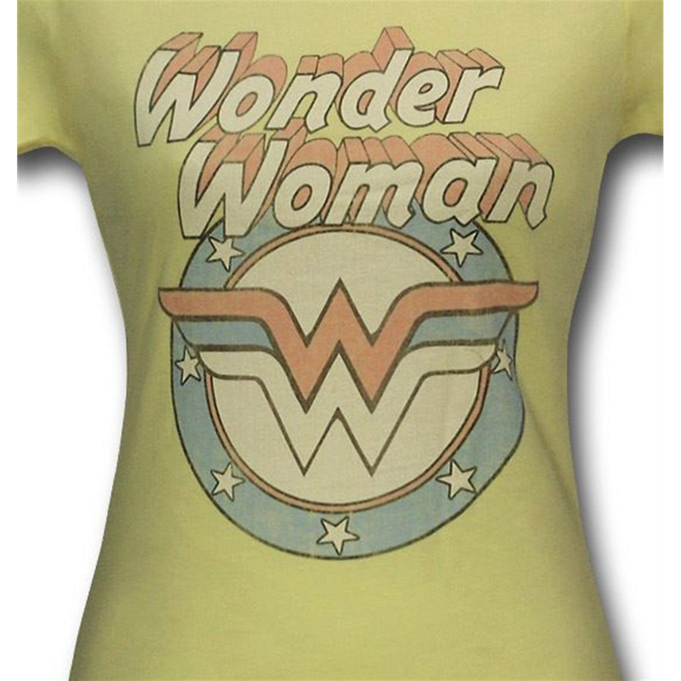 Wonder Woman Vintage Logo Yellow Women's T-Shirt