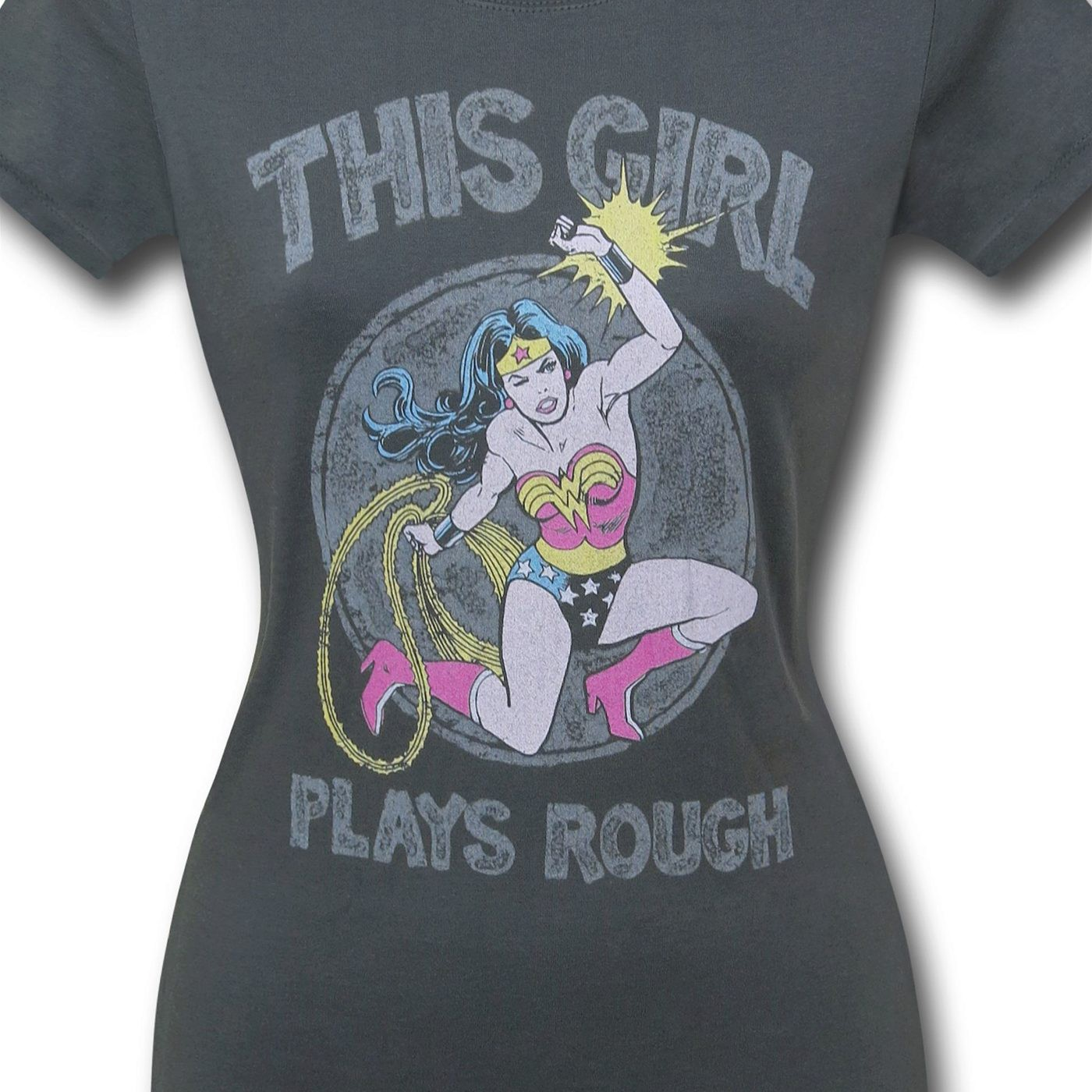 Wonder Woman Plays Rough Women's T-Shirt