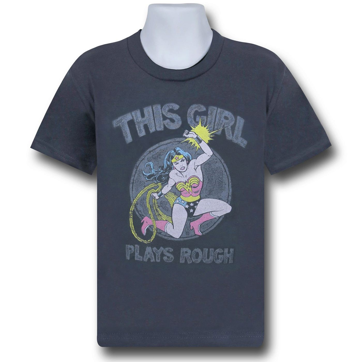 Wonder Woman Plays Rough Kids T-Shirt