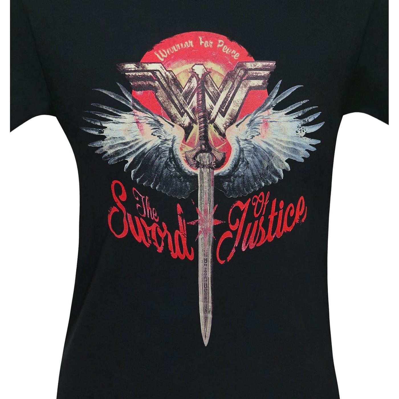 Wonder Woman Sword of Justice Men's T-Shirt