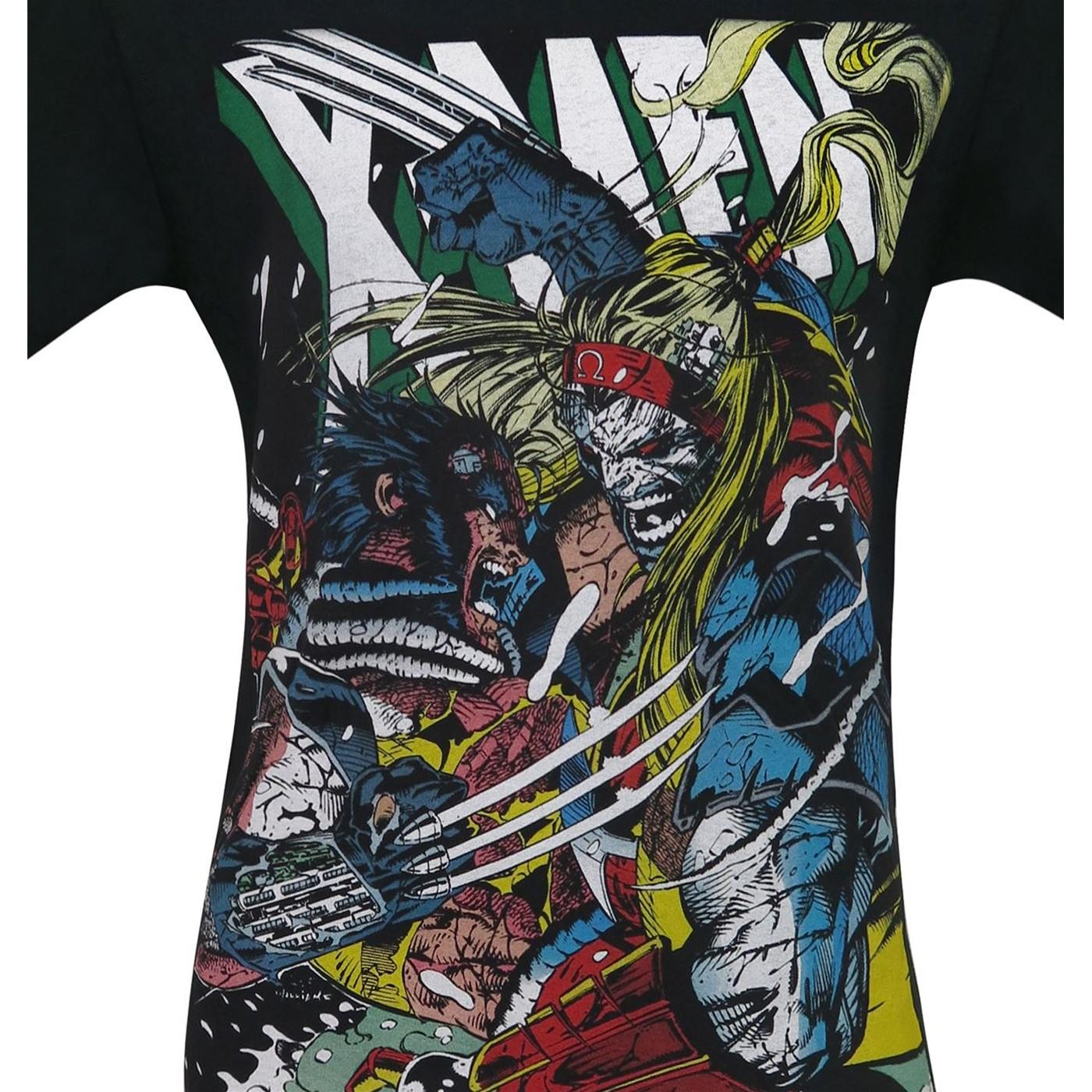 X-Men Wolverine Vs Omega Red Men's T-Shirt