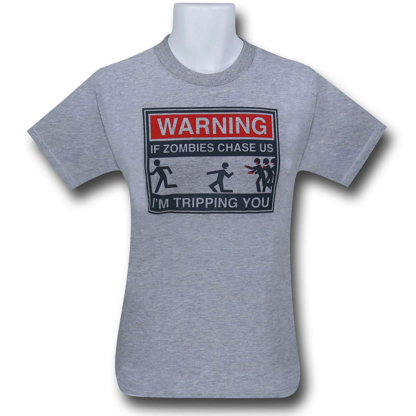 Zombie Chase Heather Grey T-Shirt