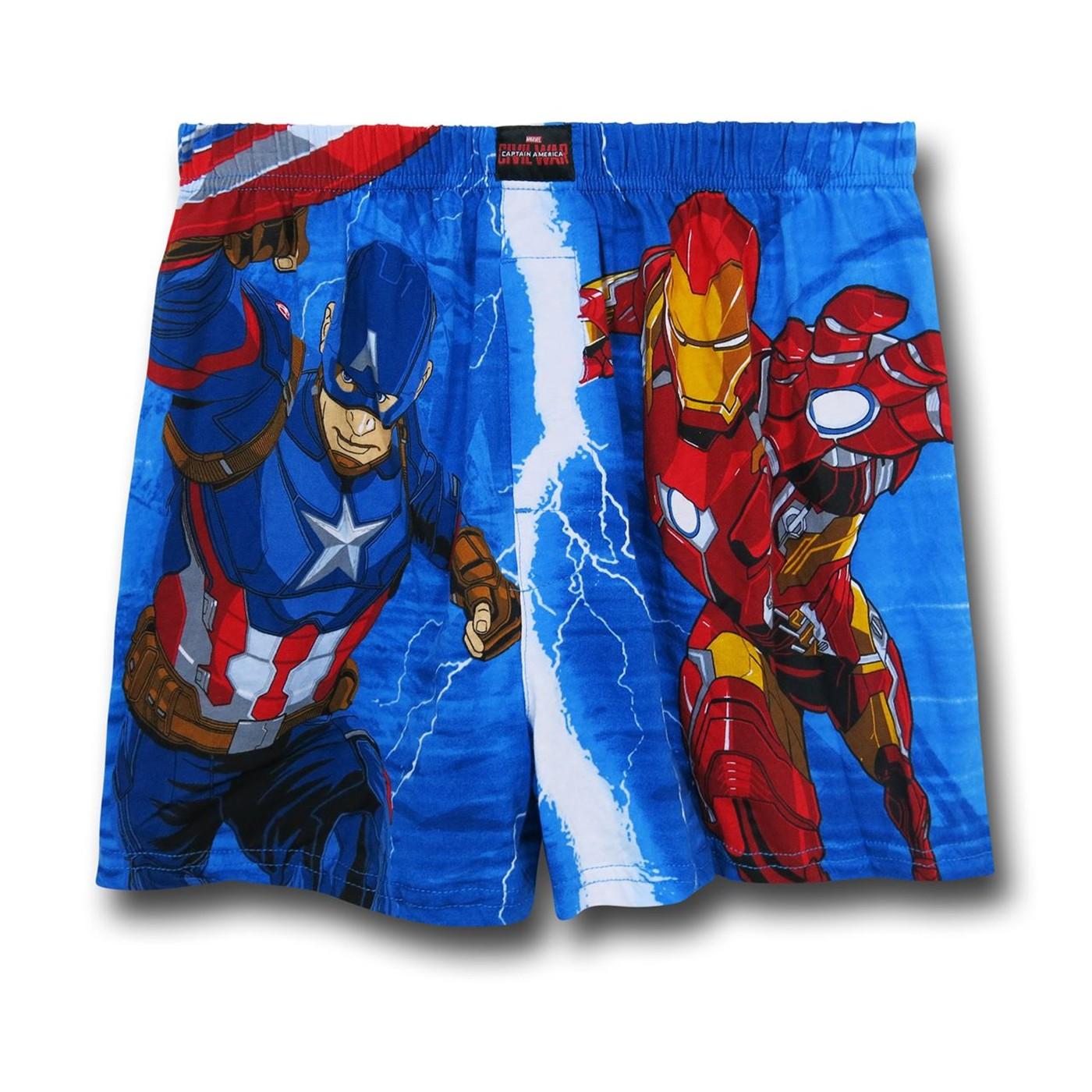 Captain America Civil War Heroes Boxer Shorts