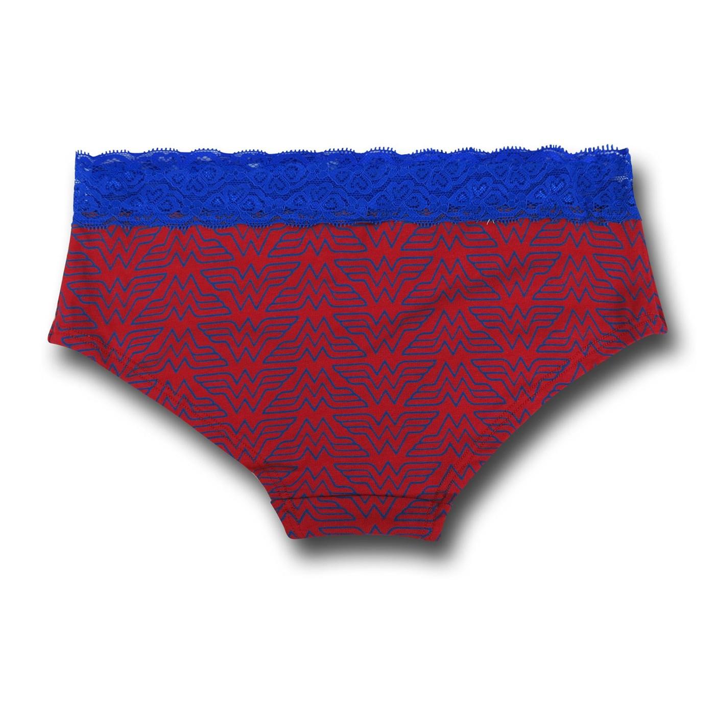 Wonder Woman Lace/Foil Women's Panty