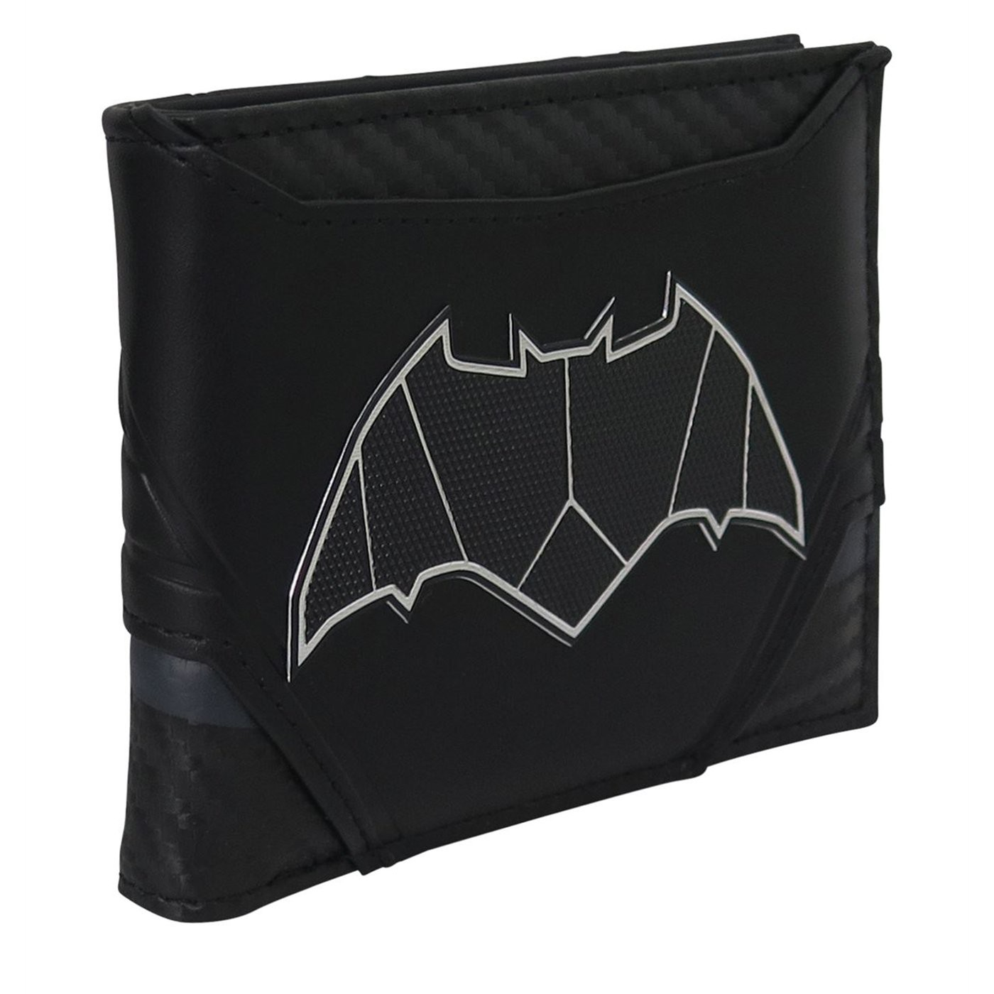 Batman Chrome Weld Patch Men's Bi-Fold Wallet