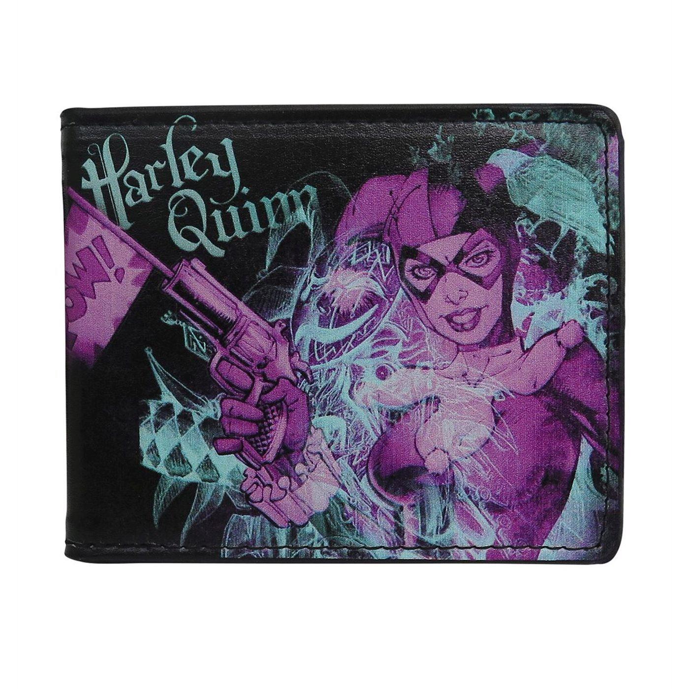 Harley Quinn Pow! Men's Bi-Fold Wallet