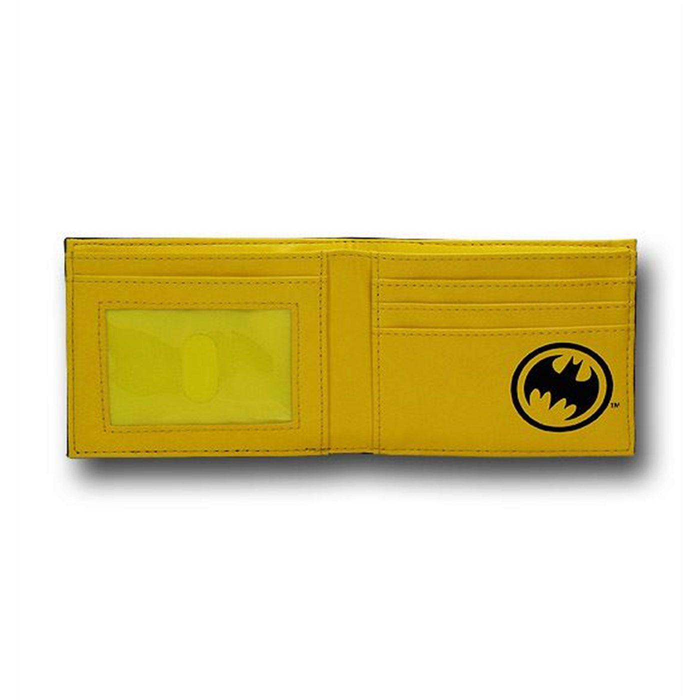 Batman Gothic Yellow Logo Bi-Fold Wallet