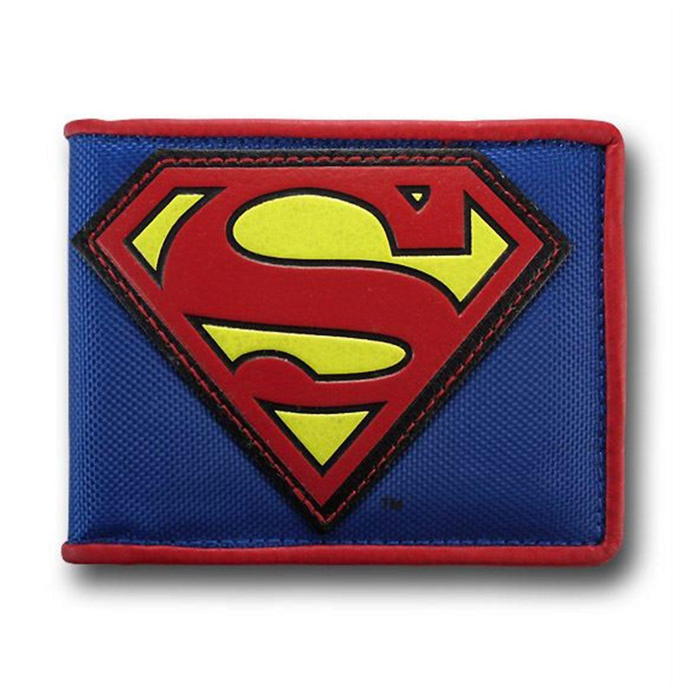 Superman Applique Symbol Canvas Wallet
