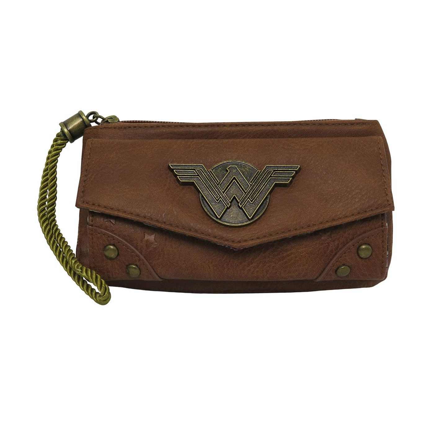 Wonder Woman Women's Camel Wristlet Wallet