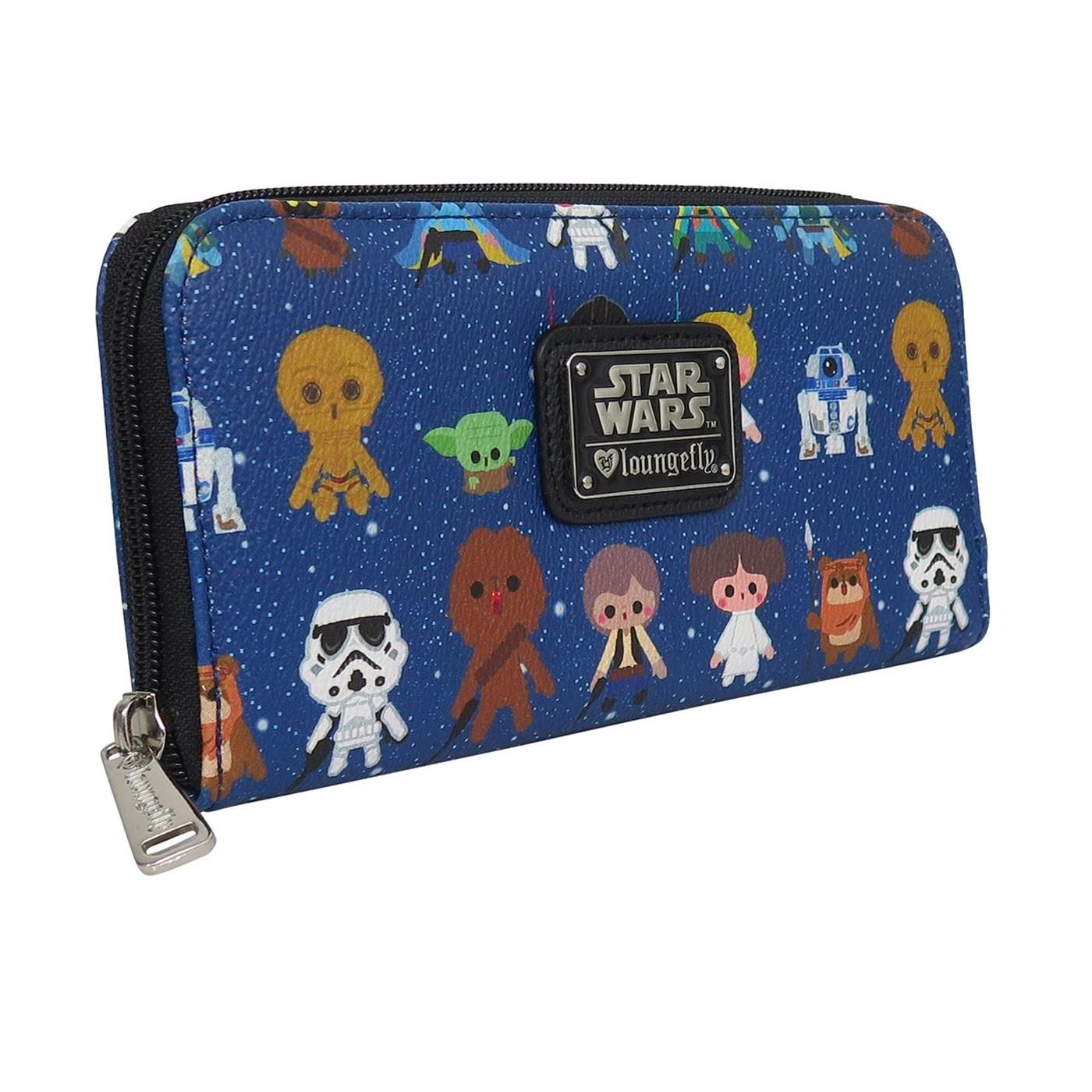 Star Wars Baby Characters Women's Zip Around Wallet