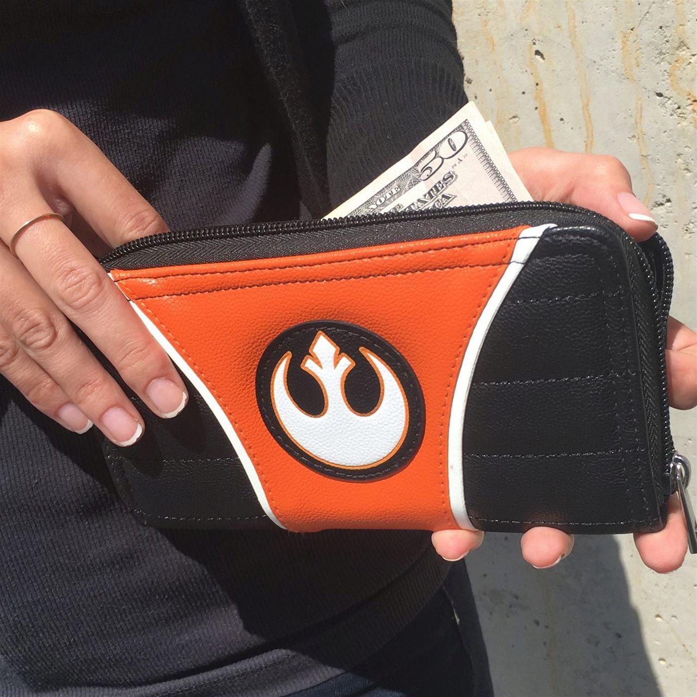 Star Wars Rebel Alliance Women's Zipper Wallet