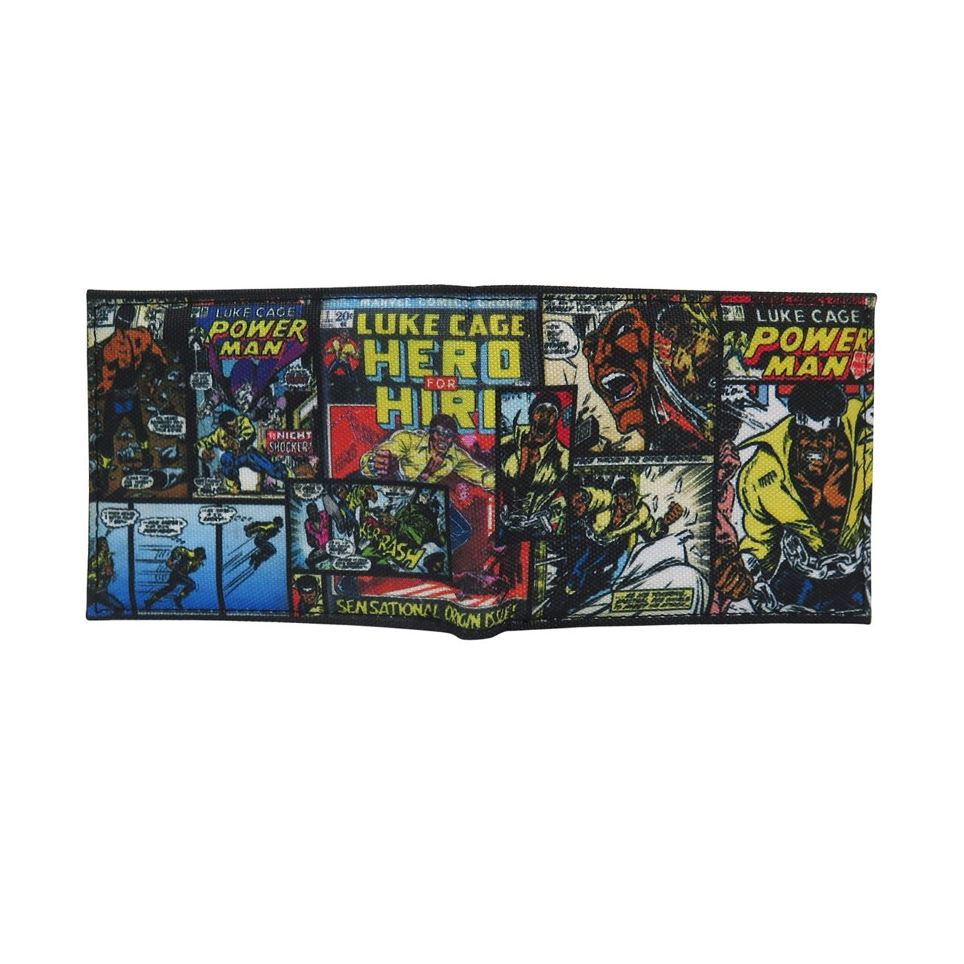 Luke Cage Comic Cover Mosaic Bi-Fold Wallet