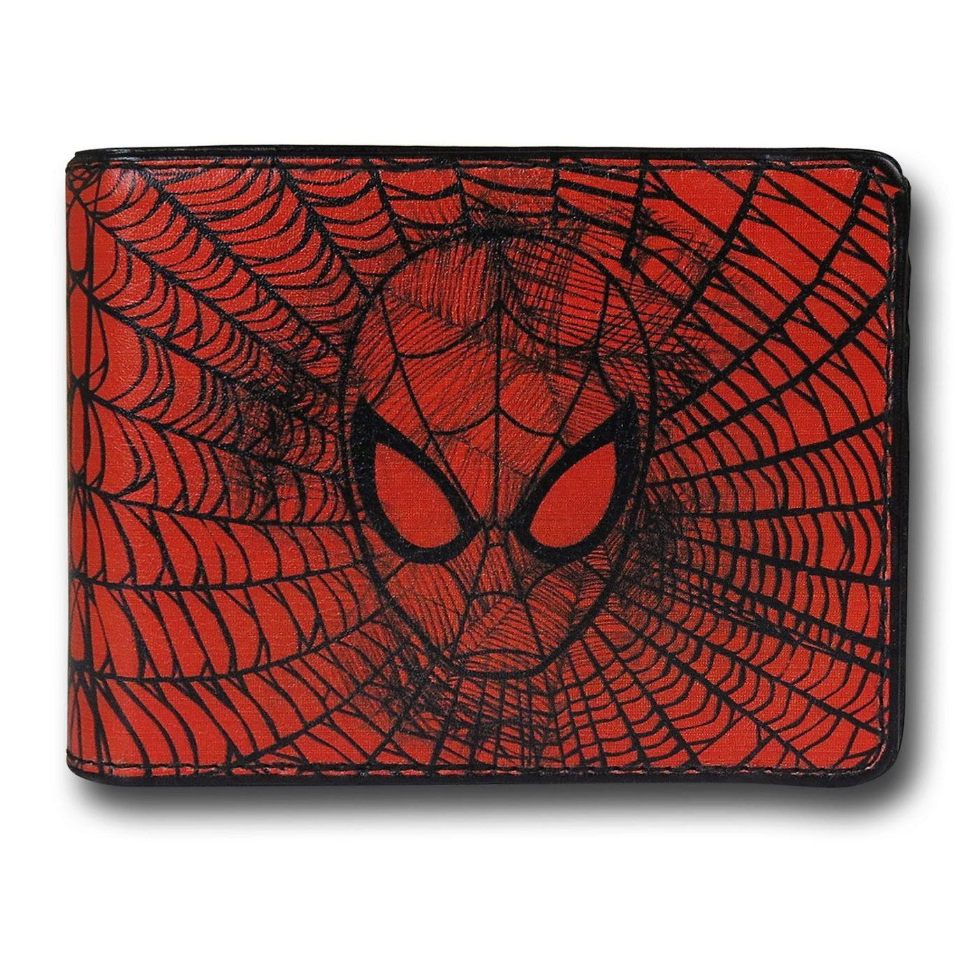Spiderman Face Web Bi-Fold Wallet