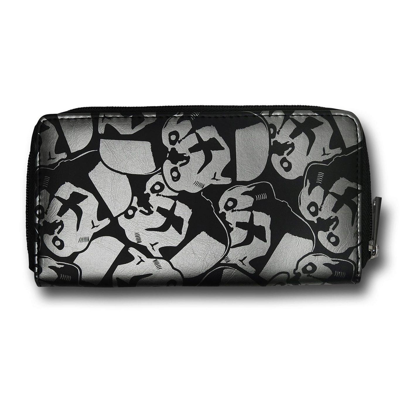 Star Wars Stormtrooper Helmets Zip Around Wallet