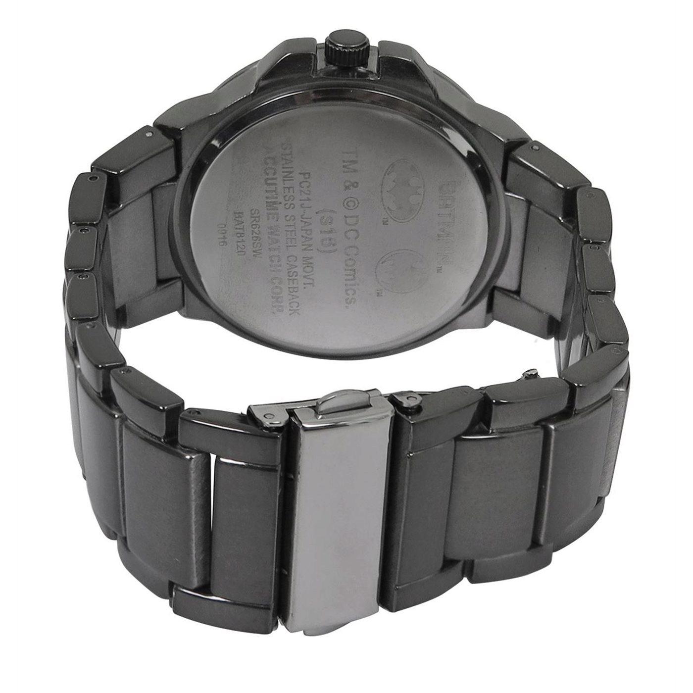 Batman Classic Symbol Watch with Metal Band