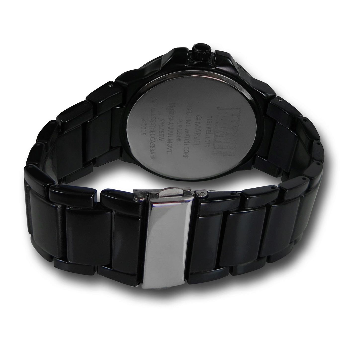 Deadpool Symbol Black Watch with Metal Band