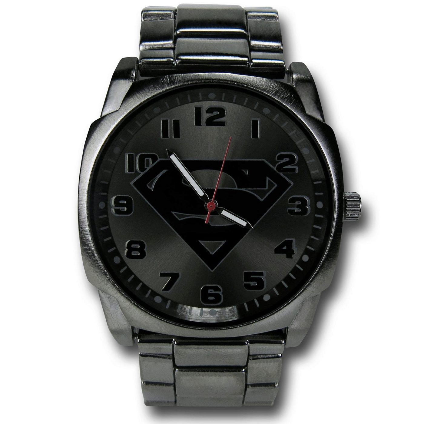 Superman Symbol Steel Alloy Watch