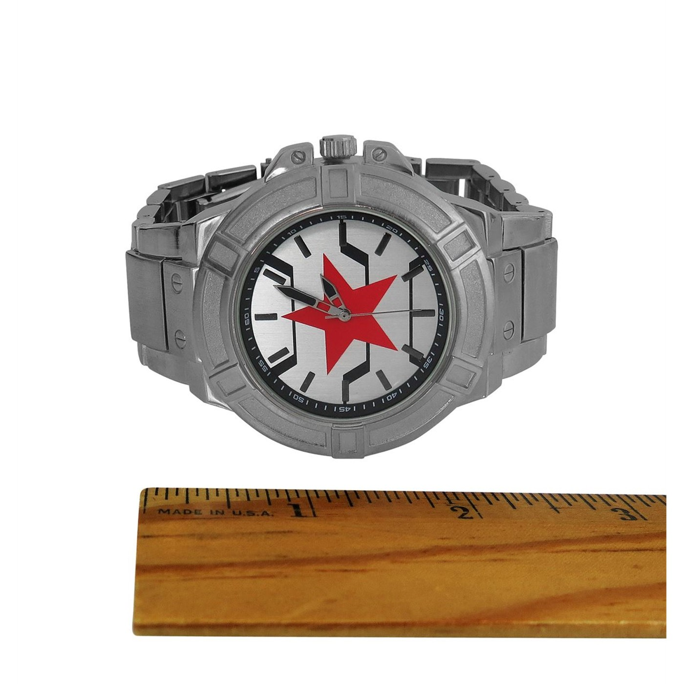Winter Soldier Symbol Watch with Metal Band