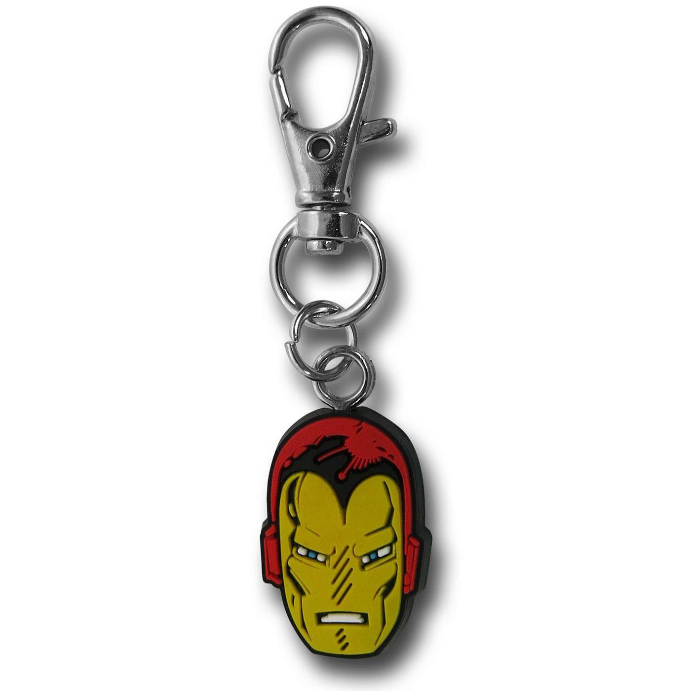 Iron Man Head Zipper Pull