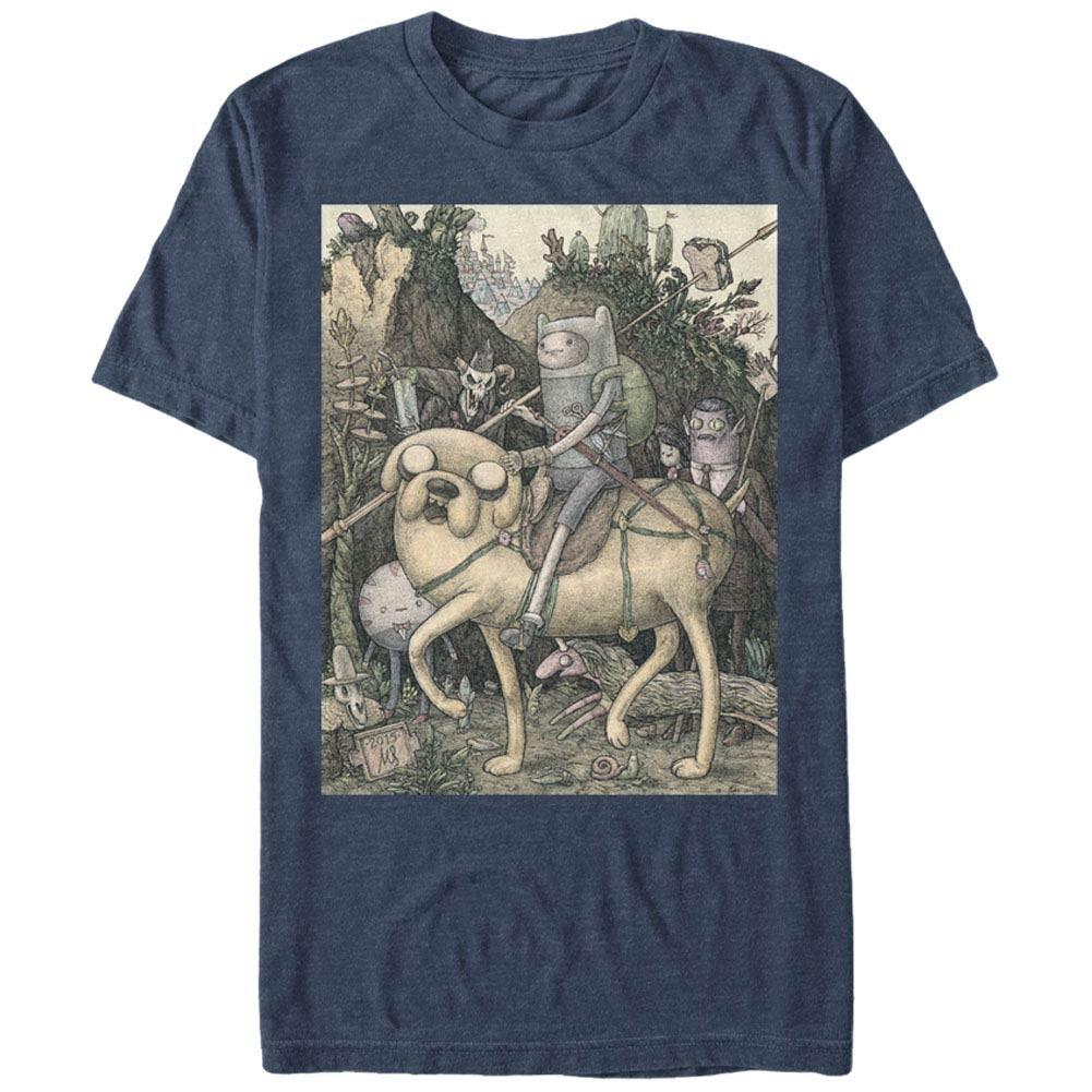 Adventure Time Lithograph Blue T-Shirt