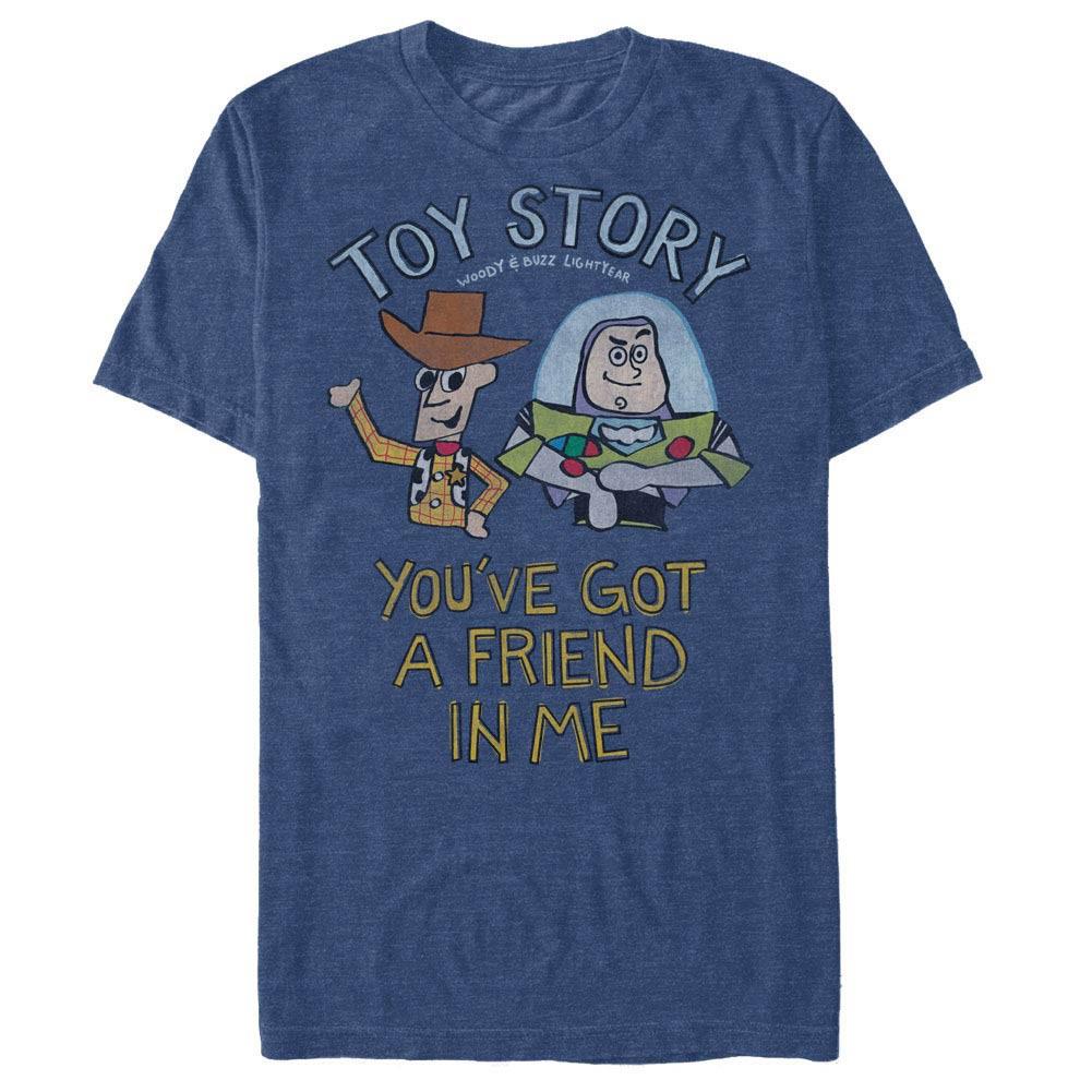 Disney Pixar Toy Story 1-3 Friend In Me Blue T-Shirt
