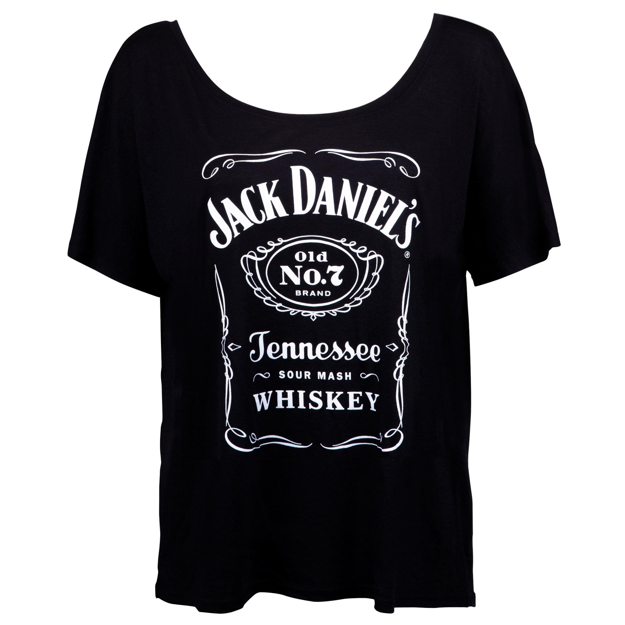Jack Daniels Loose Fit Women's Bottle Label Tshirt