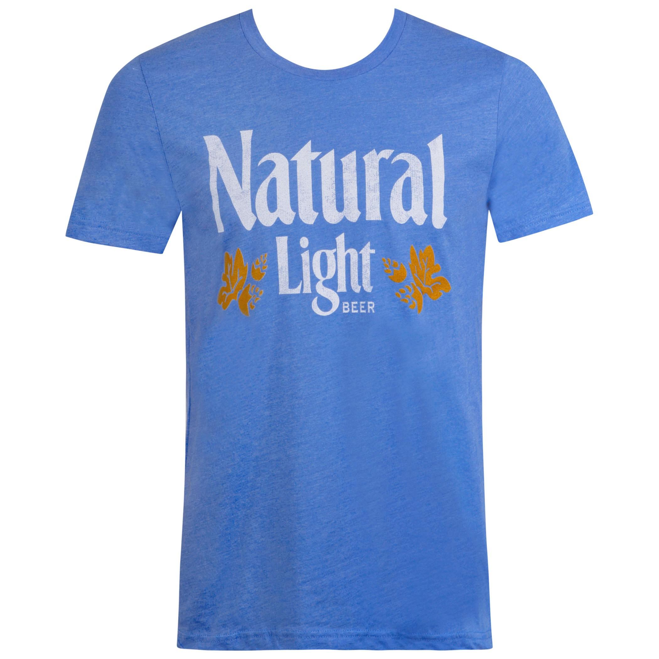 Natural Light Vintage Logo Blue Tee Shirt