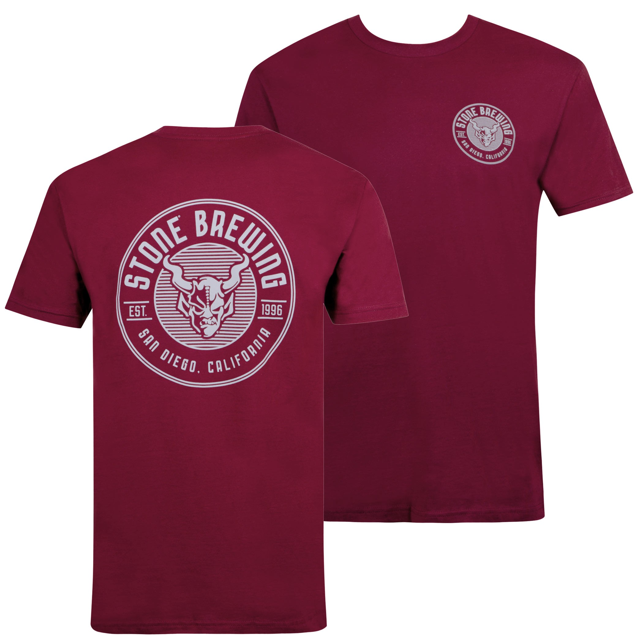 Stone Brewing Criterion Maroon Tee Shirt