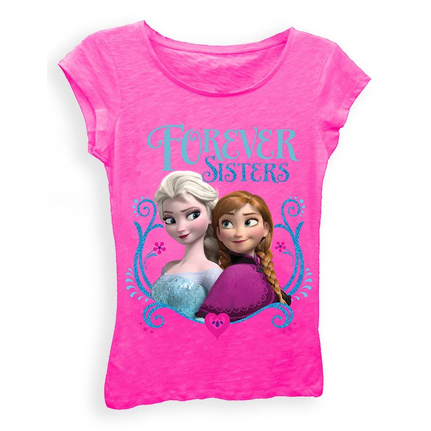 Disney Frozen Forever Sisters Girls 7-16 Tee Shirt